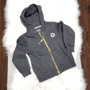 Converse Boy Zipper Sweater Hoodie with Pockets S
